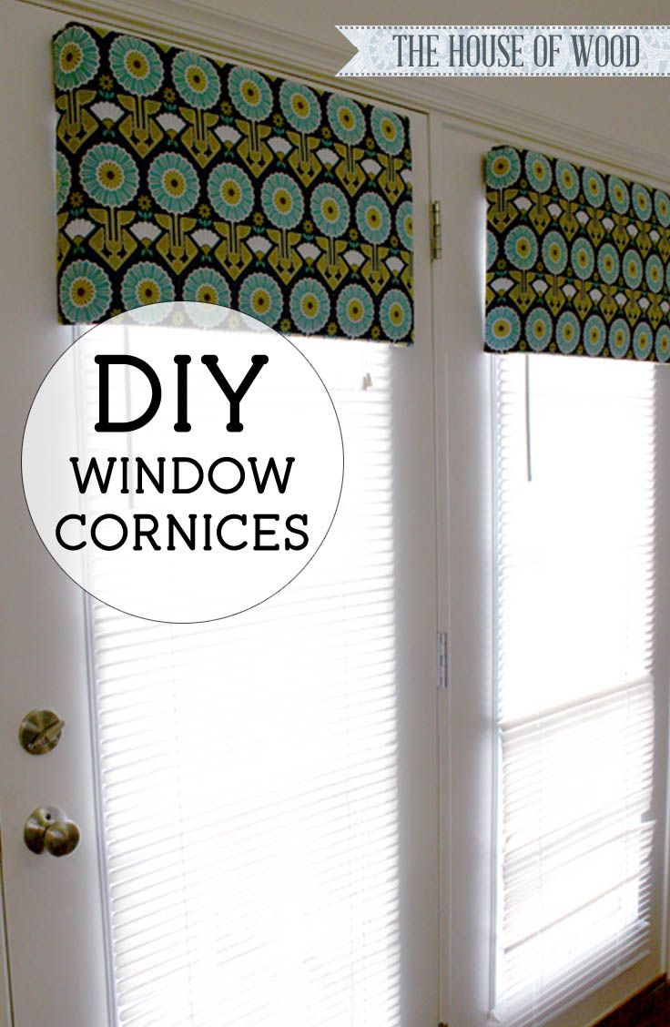 Make Your Own Diy Window Cornices Out Of Foam Core Fabric