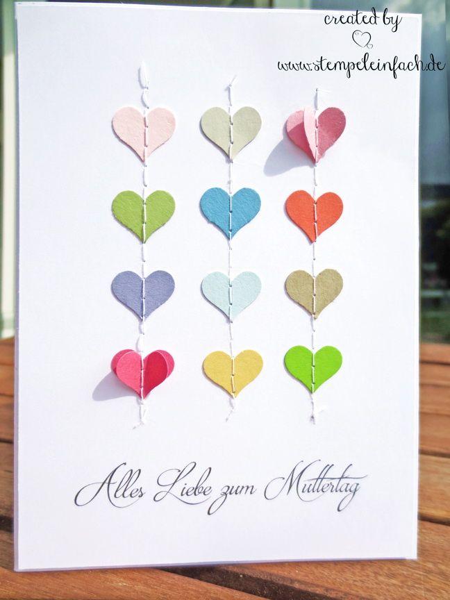 Gedichte Zum Muttertag Karten Und Girlande Zum Muttertag Basteln