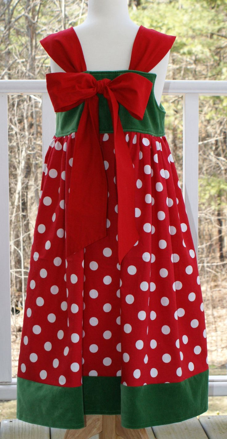 Christmas Dress, FREE SHIPPING, Disney Theme Dress, Red