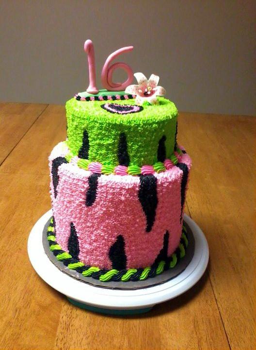 Sweet 16 Birthday Cake Buttercream Kevin S Wonderful