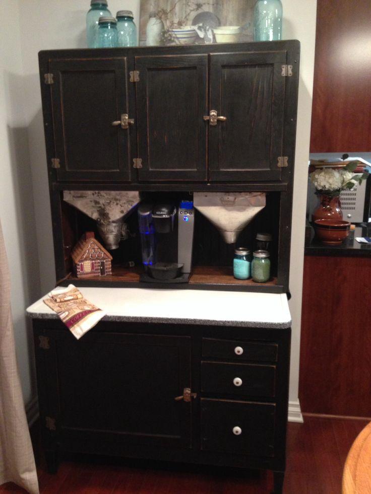 My Beautiful Renovated Hoosier Cabinet Turned Coffee Bar