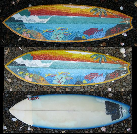 17 Best Images About Surfboard Mosaic On Pinterest Surf