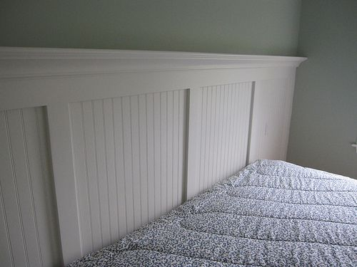 Wainscoting Headboard In A Day And Age When Many People