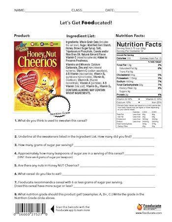 Fun Nutrition Worksheets For Kids Children In Schools