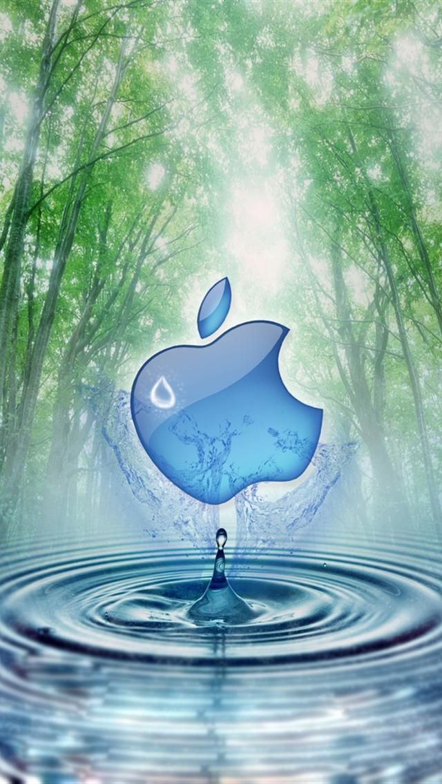 Apple and Water Tree iphone 5 wallpapers downloads