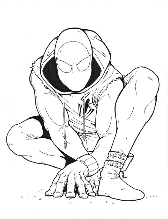 scarlet spider scarlet and coloring pages on pinterest