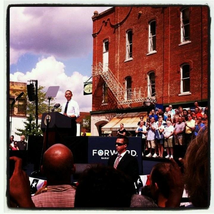 Mr Obama in Mansfield, Ohio 2012 OHIO Pinterest