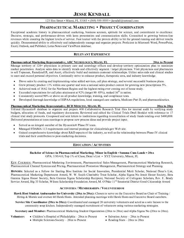 resume examples for pharmaceutical sales representative aaka