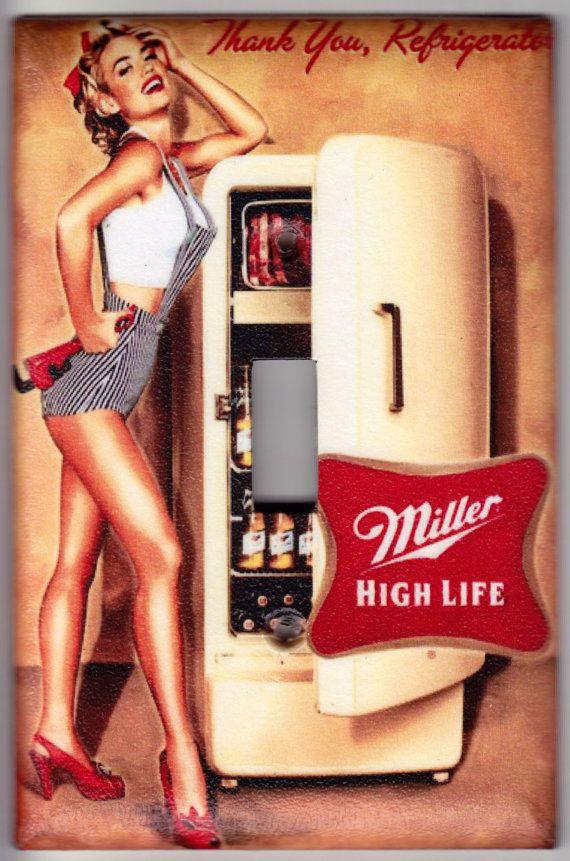 Miller High Life Beer / Vintage Pin Up Girl by SpottedDogStudios, $8.00