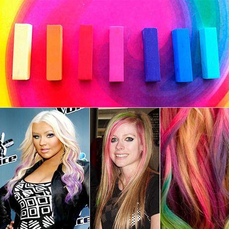 1300 24 Piece Set Washable Hair Chalk Hair Color