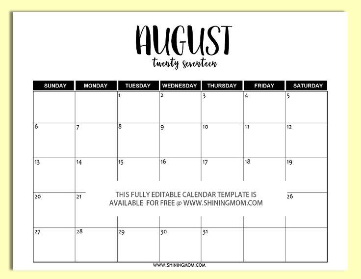 25 Best Ideas About August Calendar On Pinterest