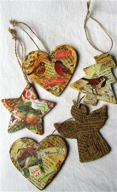 920 Best Images About Tis The Season Decoupage Ornaments