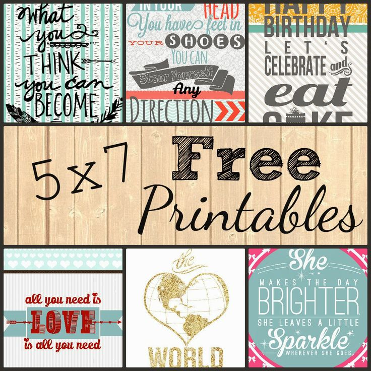 5x7 Free Printables. Comment to have one custom made for