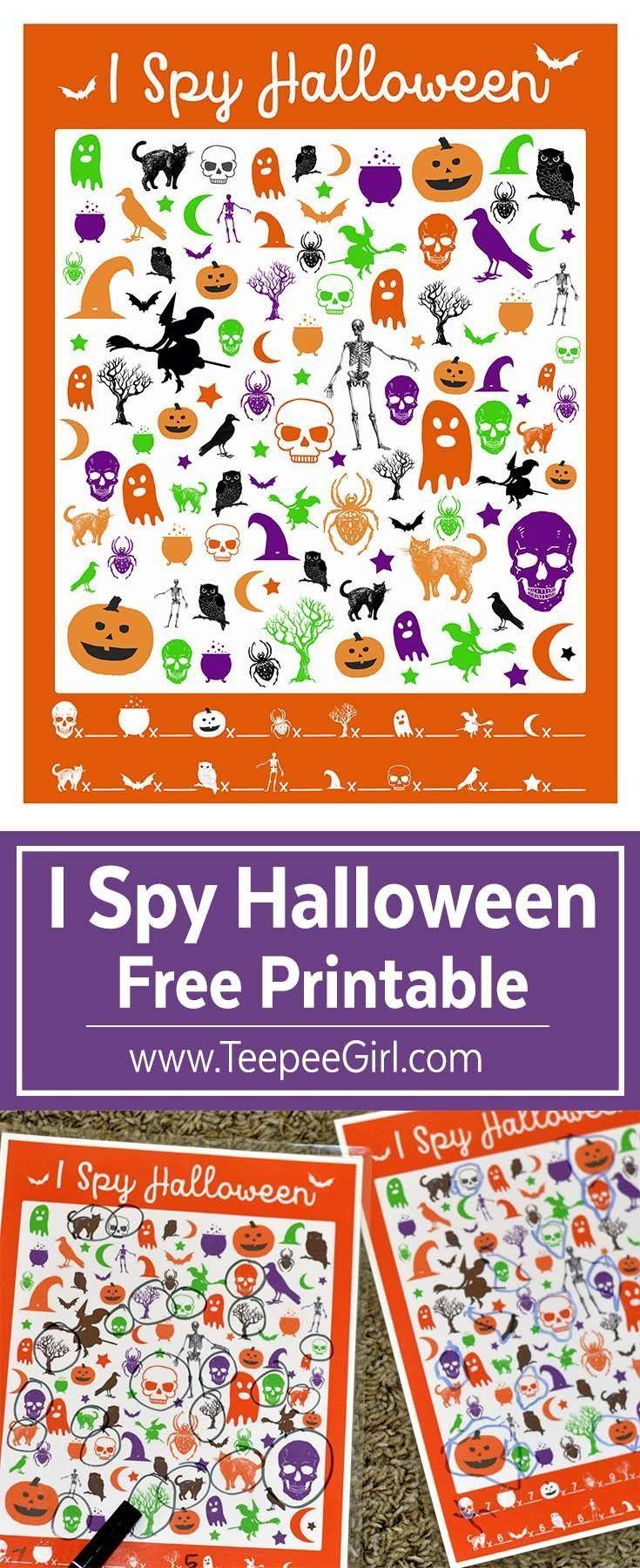 Free I Spy Halloween Game Halloween games, Halloween