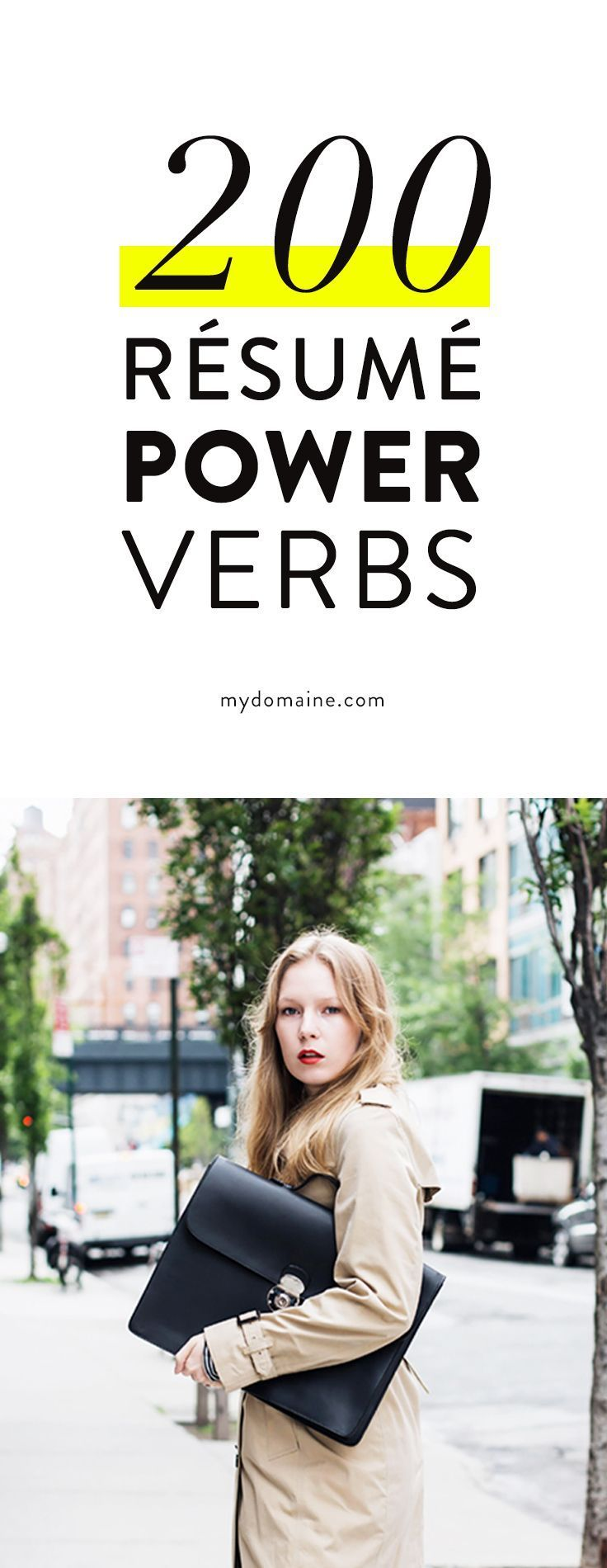 200 resume power verbs verbs are one of the most important