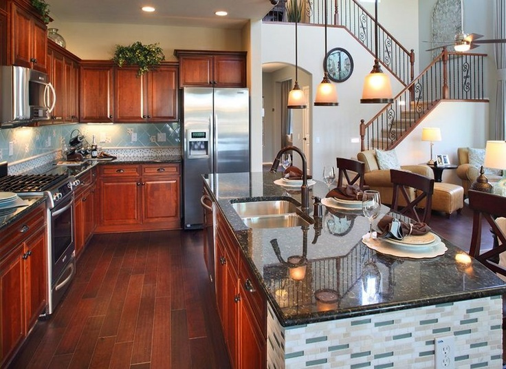 Pulte Homes Floor Plans Include A Flow From Kitchen To