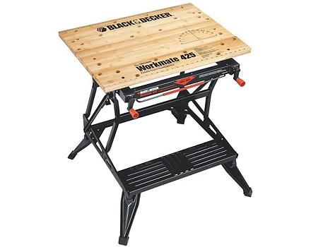 Black Amp Decker Workmate 425 Portable Project Centre And