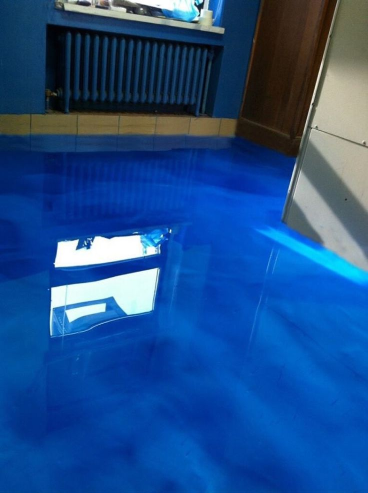 Metallic Epoxy Flooring That Looks Like Water At The Tiffin Police Department Tiffin OH
