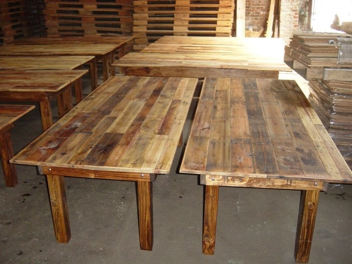 Rustic Wooden Harvest Tables