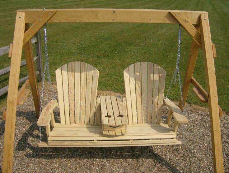 Jakes Amish Furniture 5 Adirondack Swing With Fold