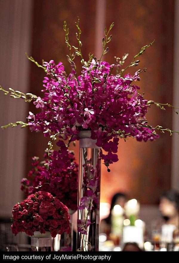 Dendrobium Orchid Centerpiece Purple Pinterest