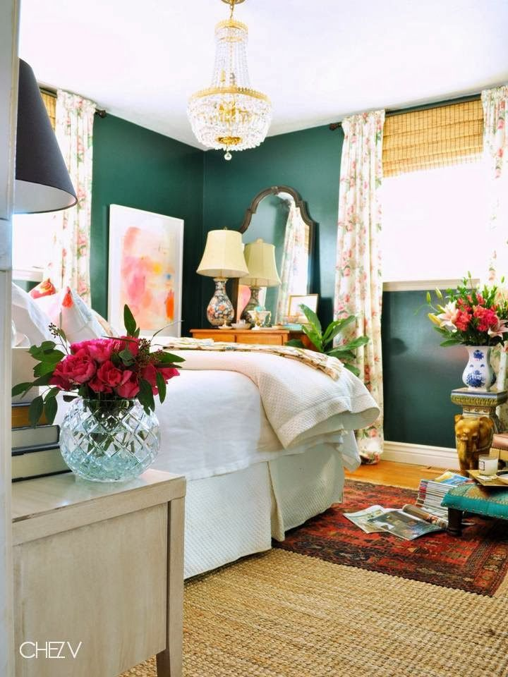 love the teal/rose combo, s