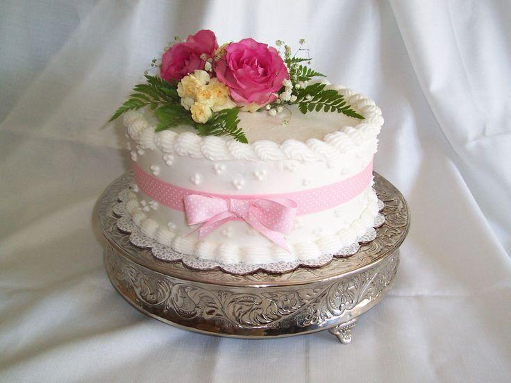 Fresh Flower Birthday Cake In Pink Redpink Cakes