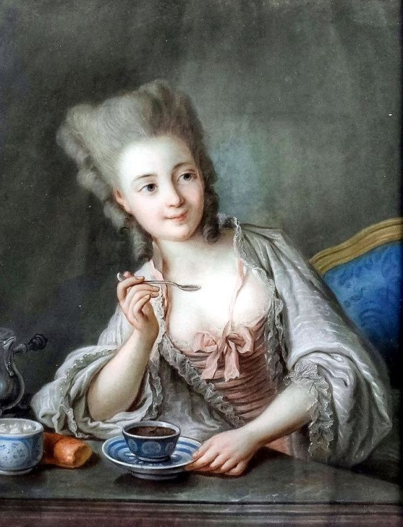 Image result for images of Anne of Austria drinking hot chocolate
