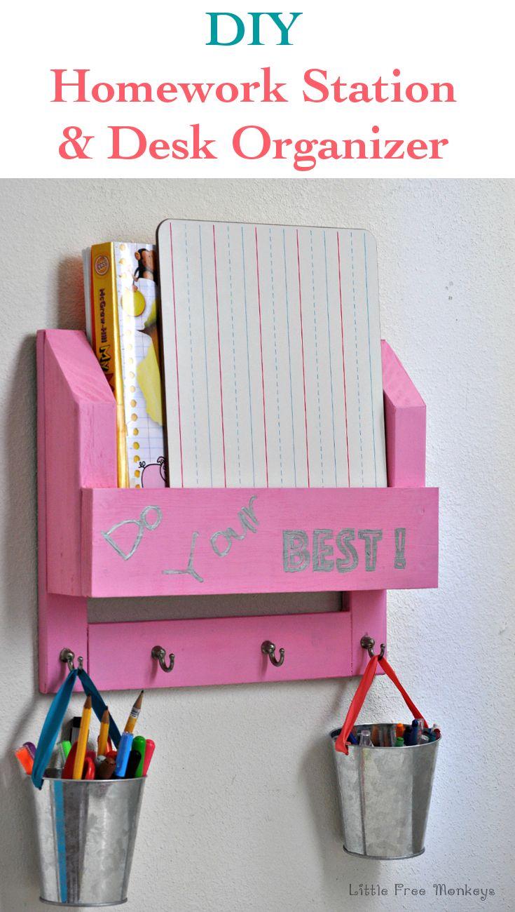 DIY Desk Organizer And Homework Station The Ojays