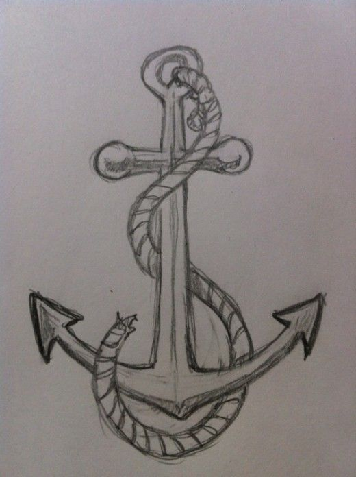 If you want to learn to draw a simple and easy anchor then you need to take a look at this drawing tutorial. It teaches you a