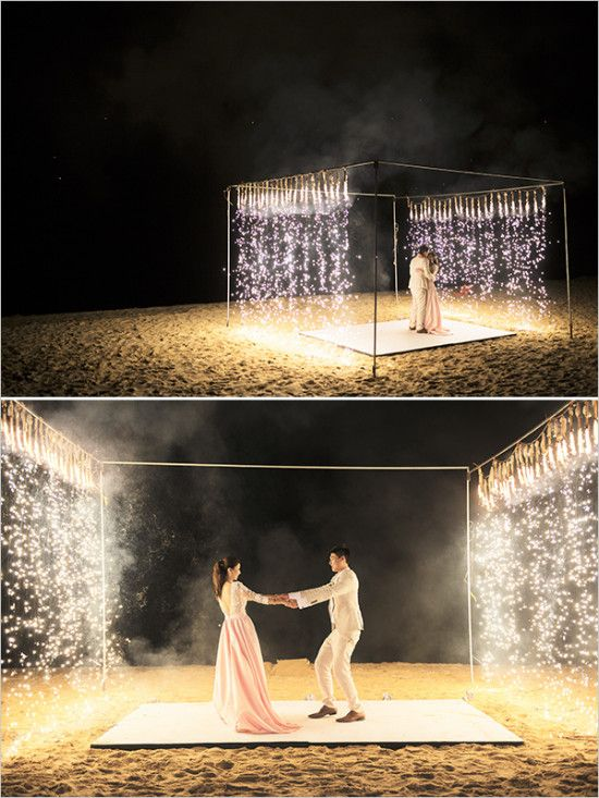 Sparkler First Dance Beach Dance Floor Decor Amp Details For Weddings Amp Events Pinterest