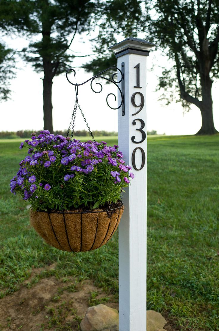 How to Make an Easy DIY Address Post Hanging baskets