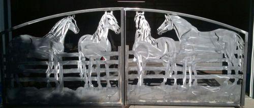 Driveway Gates Four Horses Fence Decorative