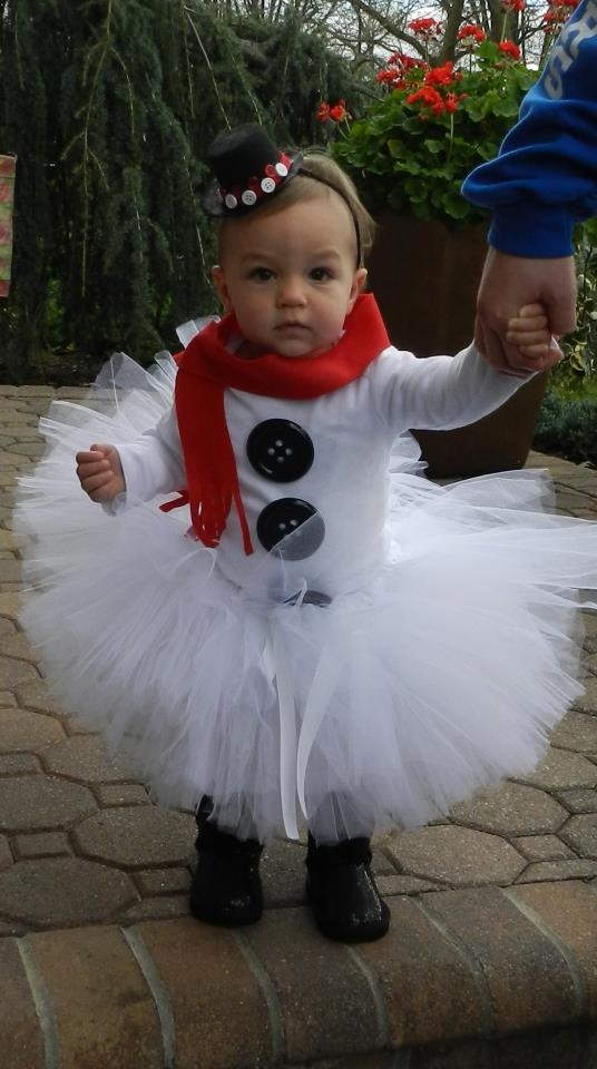 Pinterest inspired frosty the snowman tutu costume