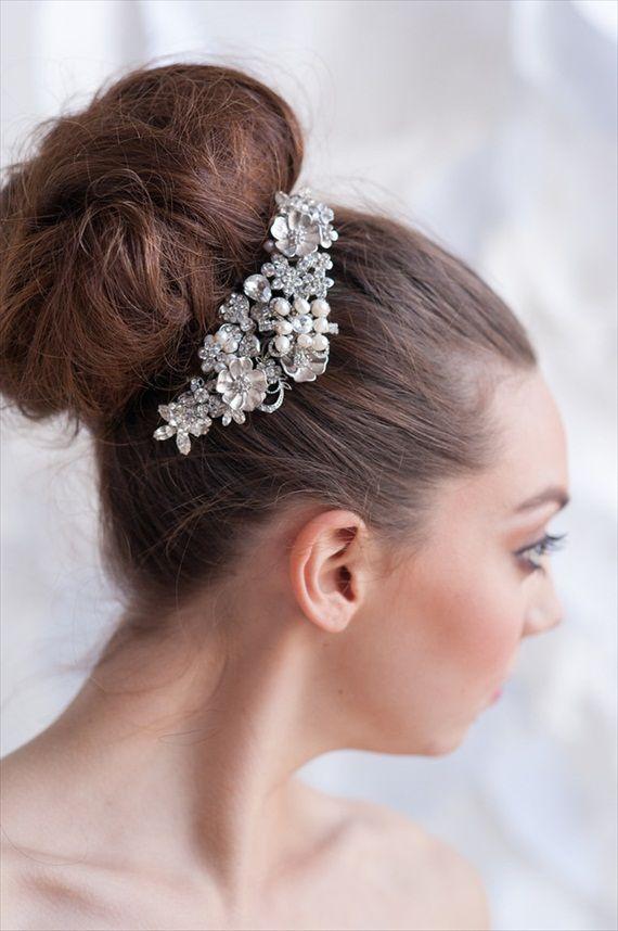 Tessa Kim 2013 Collection Rhinestone Hair Clip Wedding