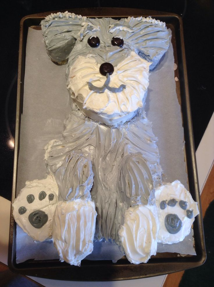 17 Best Images About Mini Schnauzer Cakes On Pinterest