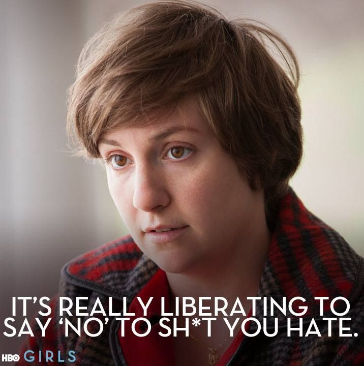 Image result for it's liberating to say no to shit you hate girls gif