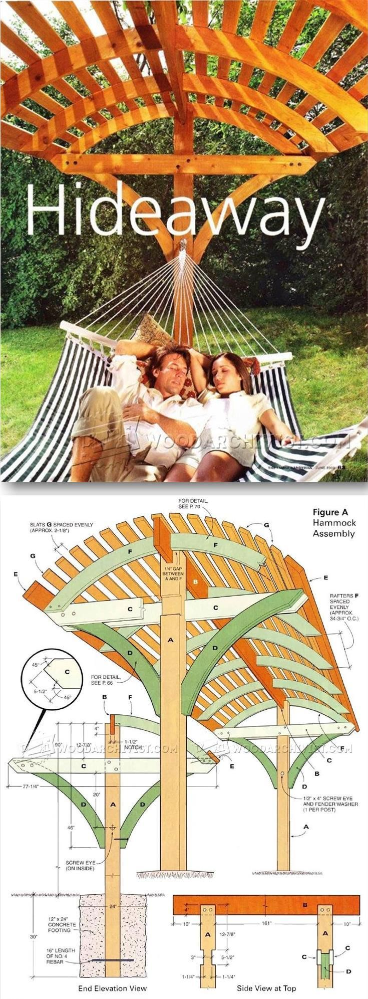 Overhead Shading Hammock Stand Plans – Outdoor Plans and Projects | WoodArchivist.