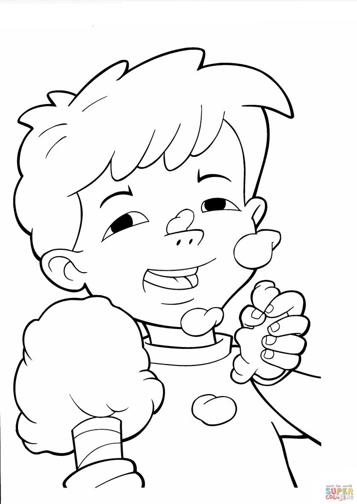 cotton candy coloring pages and coloring on pinterest