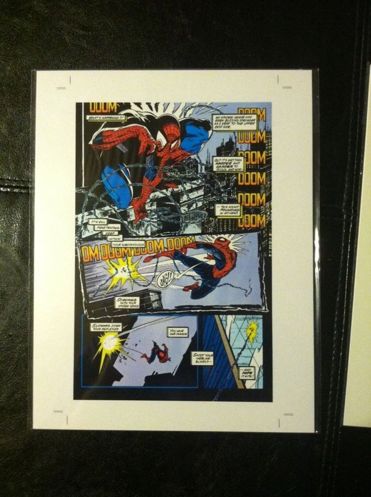 Todd Mcfarlane SpiderMan Original Production Art From