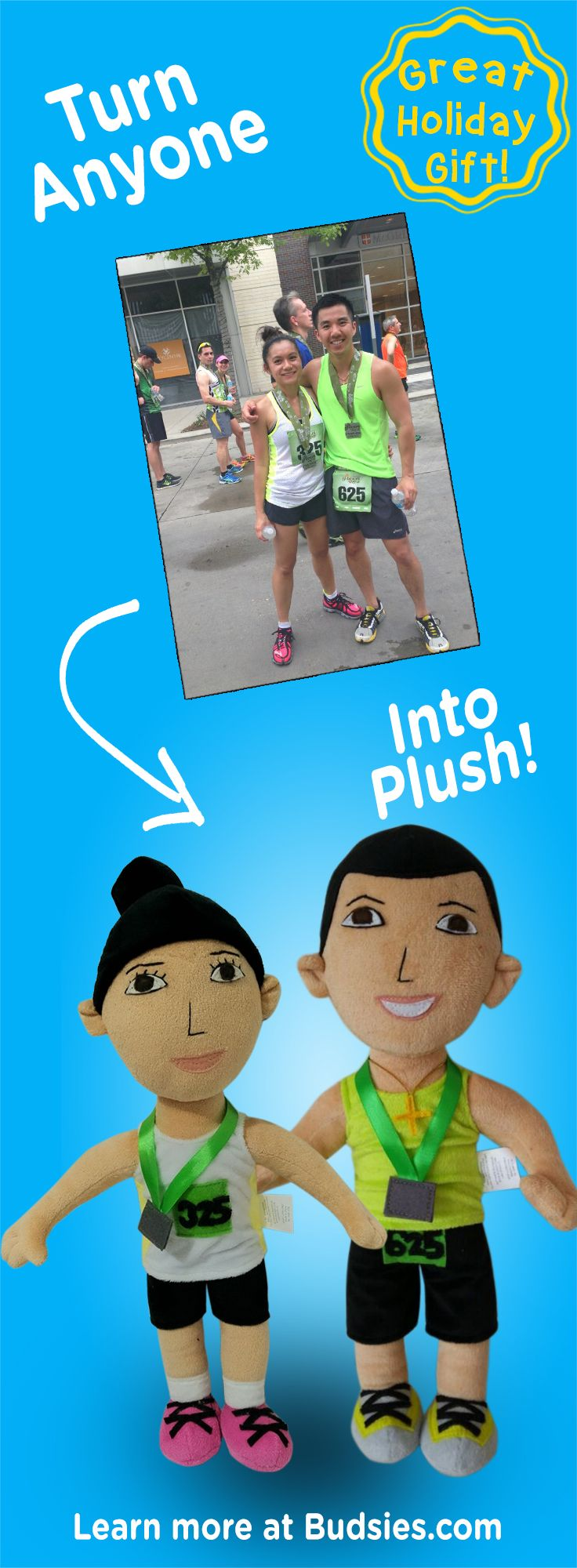 Check out this fun & unique gift for couples. Turn the two of you into a custom plush dolls! Super simple to order – learn more at