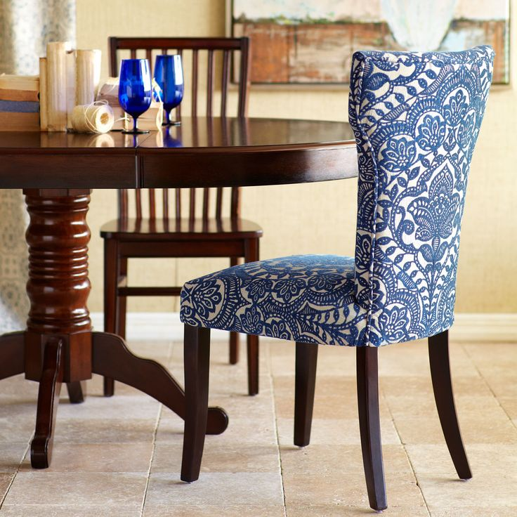 Blue Damask Dining Chair Chairs, Pier 1 imports and