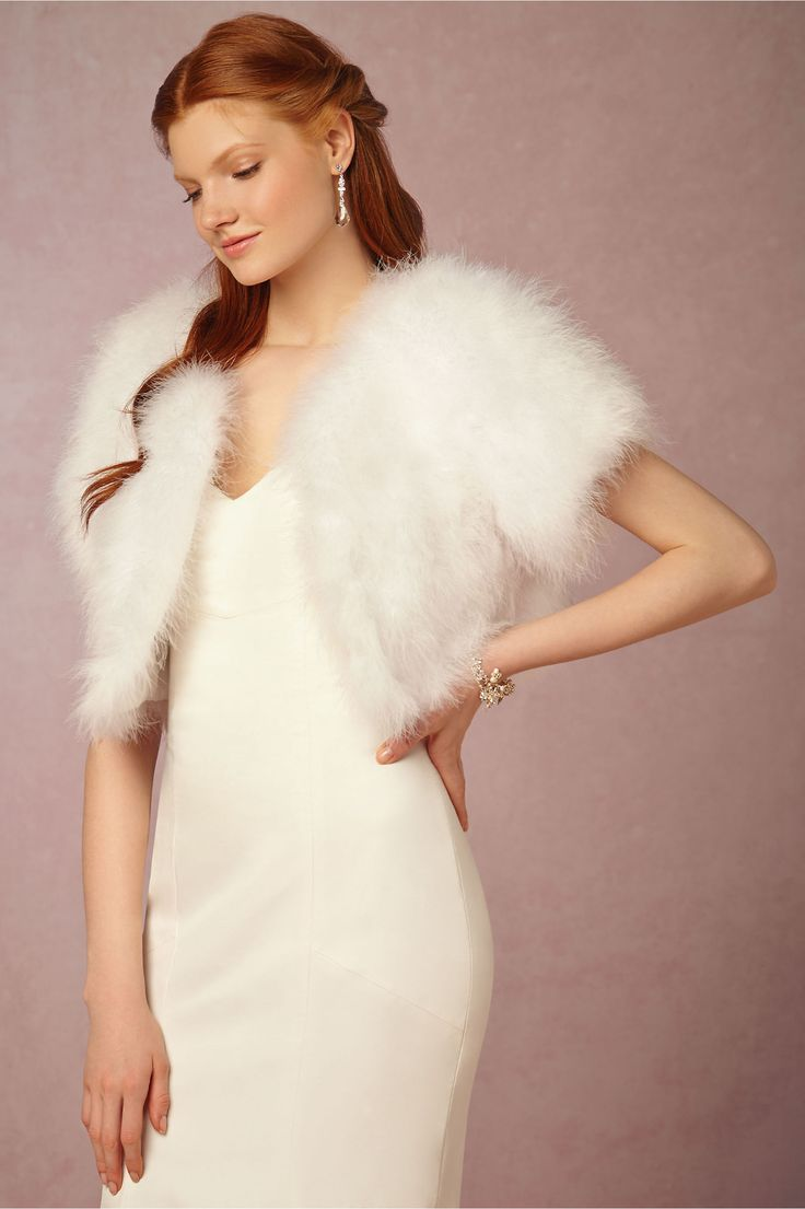 Estelle Marabou Feather Cropped Jacket By Annabelle NYC