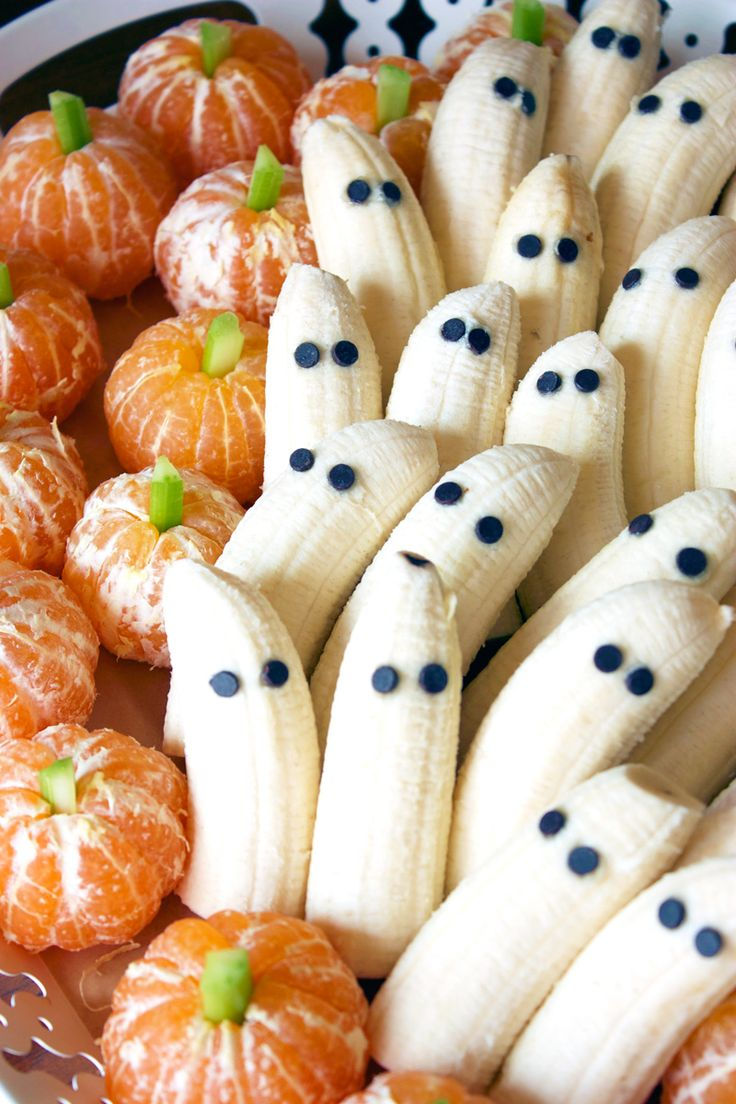 Tangerine Pumpkins & Banana Ghosts Recipe Last minute