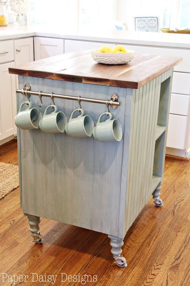 DIY Kitchen Island Cart With Plans On the side, Coffee