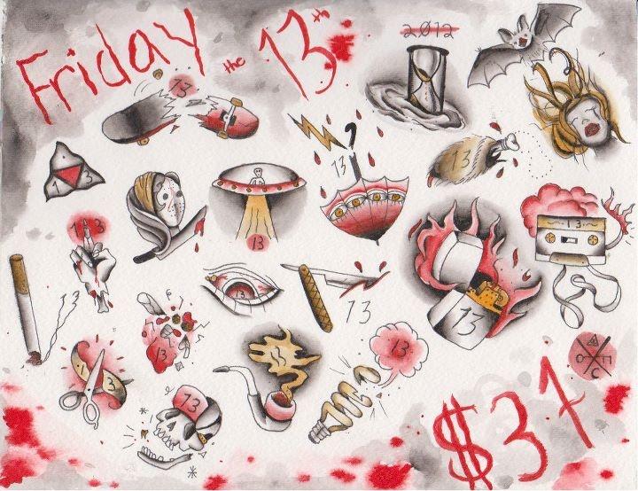 Friday the 13th/ i love the umbrella Tattoos Pinterest