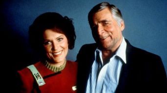 Image result for star trek 1966 Majel Barrett and gene roddenberry