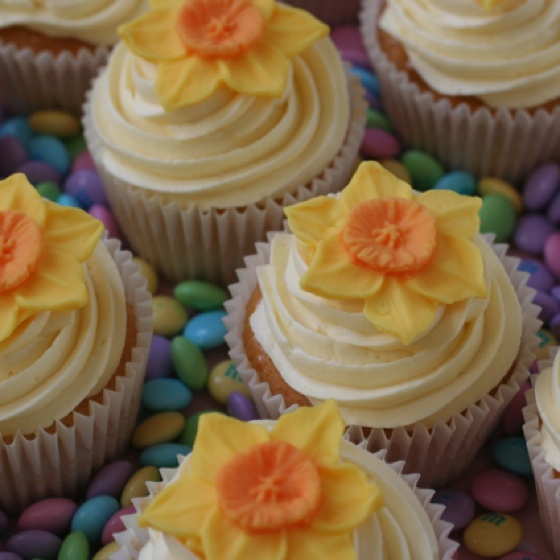 Daffodil Cupcakes For St Davids Day March 1st St
