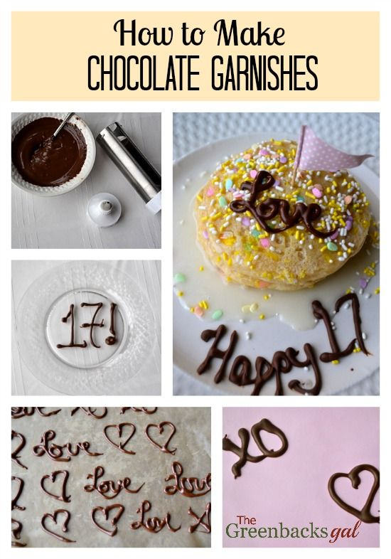 How To Make Chocolate Garnishes At Home Valentines