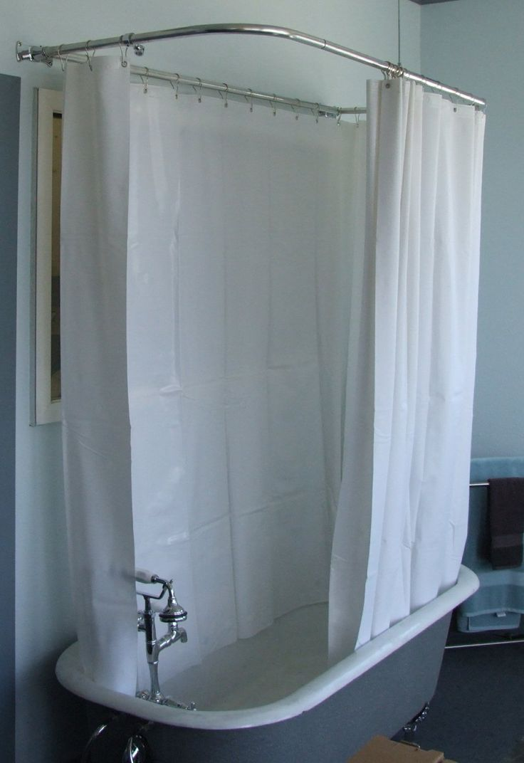 180 Shower Curtain For Clawfoot Tubs 55 For Our